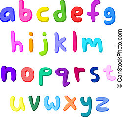 colorito, piccolo, lettere