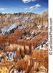 colorito, pinnacoli, in, canyon bryce parco nazionale