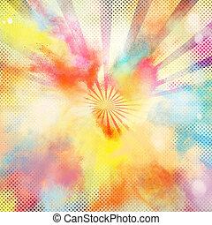 colorito, pop-art, scoppio