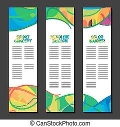 colorito, separately, coperchio, formati, web, modello, sagoma, pagina, colorato, layout., vettore, luoghi, disegno, sport, preparazione, onde, volantino, astratto, testo, banners., logotipo, opuscolo, linee, bandiera, manifesto, concetto