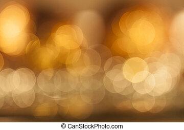 colorito, sfocato, luci, fondo
