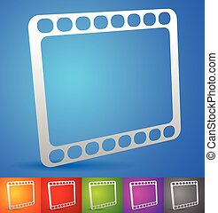 colorito, simbolo, striscia, vector., backgrounds., film