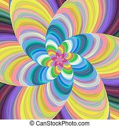 colorito, spirale, vettore, disegno, fondo, fractal