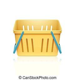 colorito, sporta, simbolo, ., illustrazione, bianco, fondo
