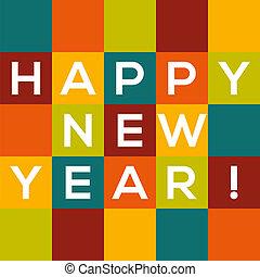 colorito, testo, -, anno, nuovo, squadre, scheda, felice