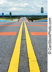 colorito, traffico, linee, strada