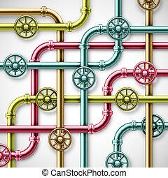 colorito, tubi per condutture