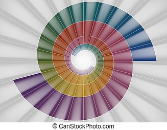 colorito, tunnel, luce, scala, spirale, luminoso