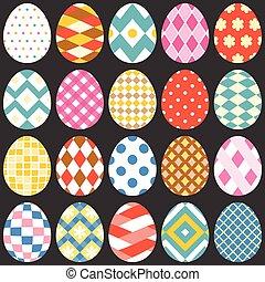 colorito, uova pasqua, appartamento, disegno, set