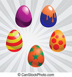colorito, uova pasqua
