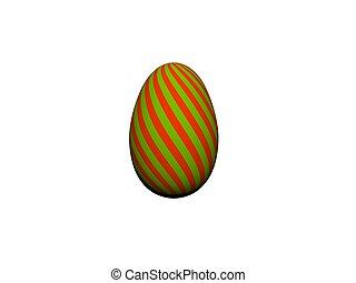 colorito, uovo, -, isolato, interpretazione, bianco, fila, pasqua, 3d