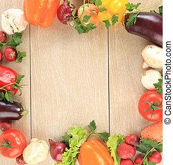 colorito, verdura, cornice