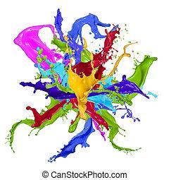 colorito, vernice, gli spruzzi