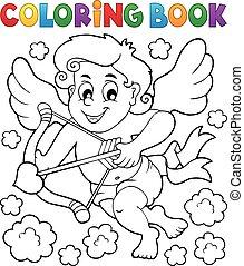 coloritura, 5, libro, cupido