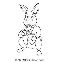 coloritura, illustrazione, coniglietto, racconto, vettore, fata, libro