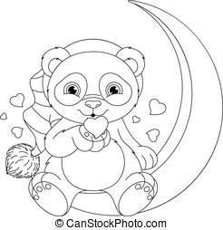 coloritura, panda, pagina