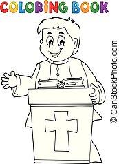 coloritura, prete, giovane, topic, 2, libro