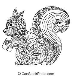 coloritura, scoiattolo