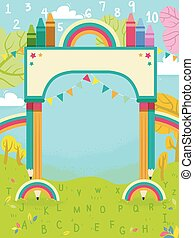 Colors Arch Nature 123 Illustration - Abstract Illustration ...