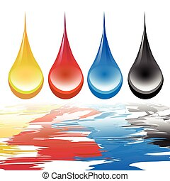 Illustration of the color displayed on the abstract way.