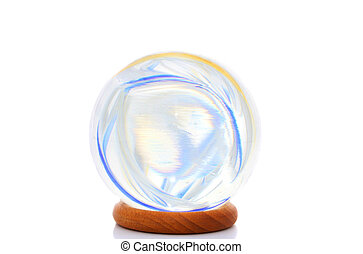 Colors in a crystal ball - Swirling light and color within a...