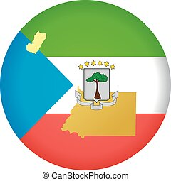 colors of Equatorial Guinea - button in colors of Equatorial...