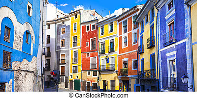 colors of mediterranean towns series - streets of Cuenca, ...