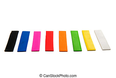 colors of modeling clay isolated