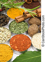 Colors of spices - Colorful spices used in indian and...