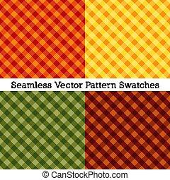 colors:, percalle, zucca, color ruggine, modelli, seamless, verde, cadere, croce, oro, raccogliere, tessere