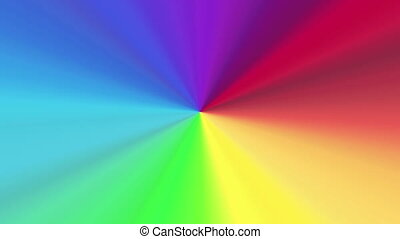 colors spectrum 4K - The radiant rotating background with...