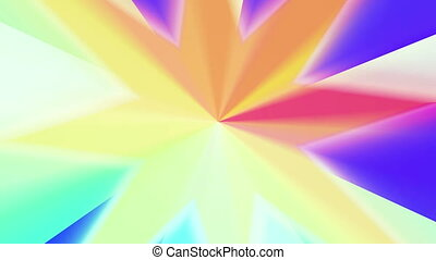 colors spectrum with star shape 4K - The radiant rotating...