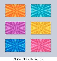 colors., textura, cartões, jogo, diferente, listrado