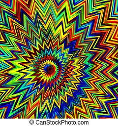 Coloruful psychedelic explosion. - Funny ornate decor. Fun...