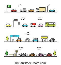 colorv, tráfico, gris