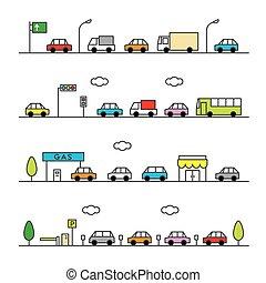 colorv, traffico, grigio
