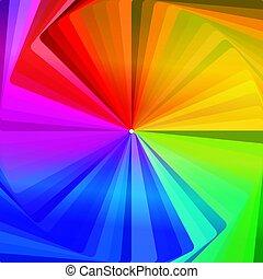 colorwheel, 抽象的, 壁紙, 同心である