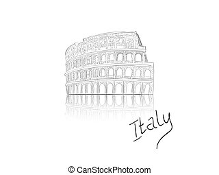 Colosesum - Vector illustration  of colosseum in Rome, Italy