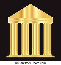 colosseo, vettore, oro