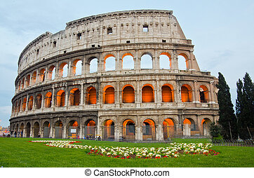 colosseum, ∥において∥, 夕闇, ローマ, イタリア