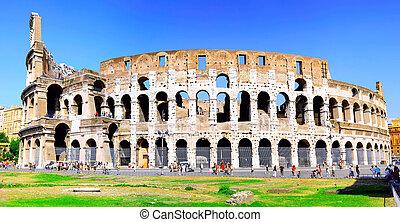 colosseum, 世界, 著名的里程碑, 在中, rome.