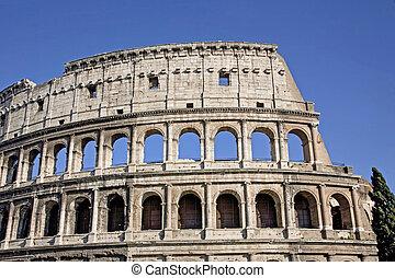 colosseum, 世界, 著名的里程碑, 在中, rome, italy., 2