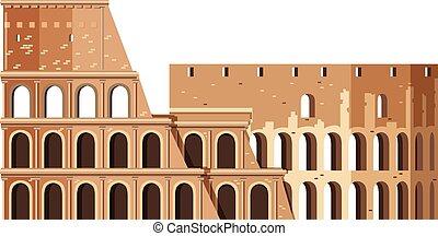 colosseum, 中に, ローマ, イタリア, ランドマーク