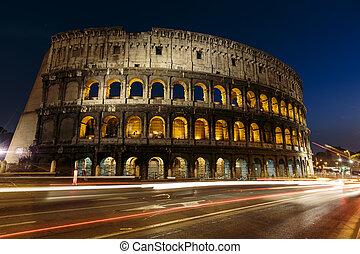 colosseum, 在中, rome, italy