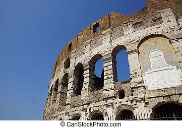 colosseum, 夏, 部分, ローマ, イタリア