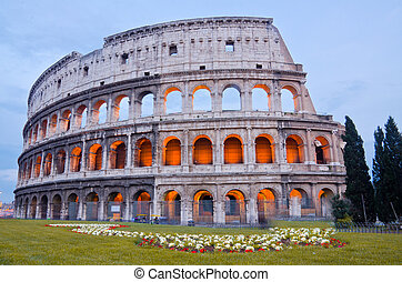 Colosseum at Dusk, Rome Italy