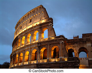 Colosseum at Night - Colosseum in Rome at Night