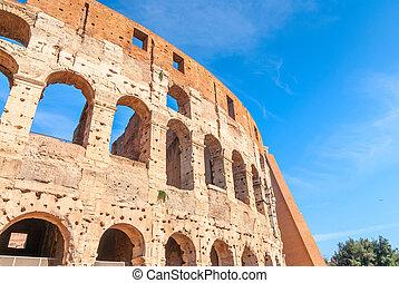 colosseum, europe., 魅力, 古代, 本, ローマ人, 観光客, 1(人・つ)
