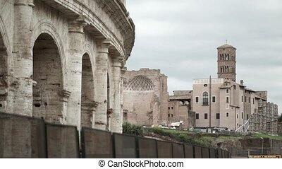 Colosseum in Rome at cloudy day