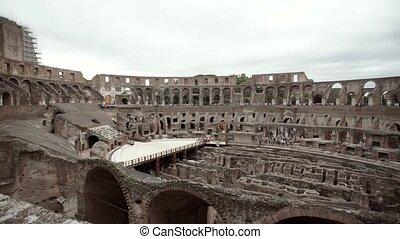 Colosseum in Rome inside